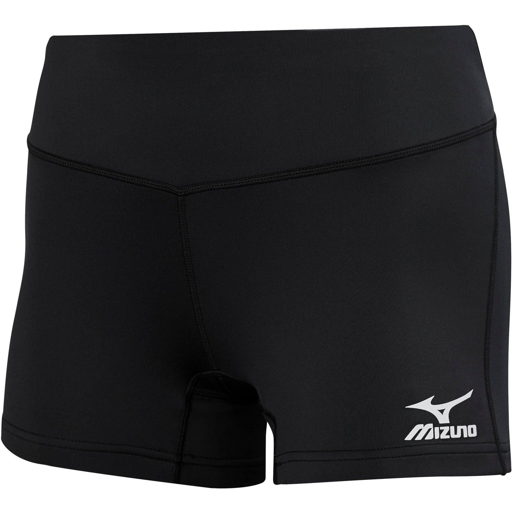 Mizuno Women S Victory 3 5 Inseam Volleyball Shorts Size Extra Extra Small In Color Black 9090 Volleyball Shorts Workout Shorts Women Volleyball Spandex