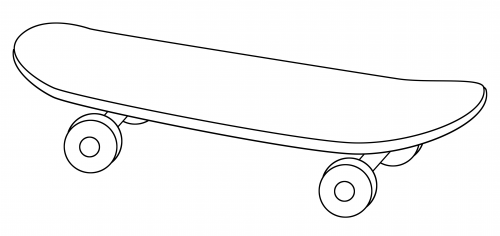 Skateboard coloring page adult coloring pages skateboard party sports coloring pages - Dessin skateboard ...