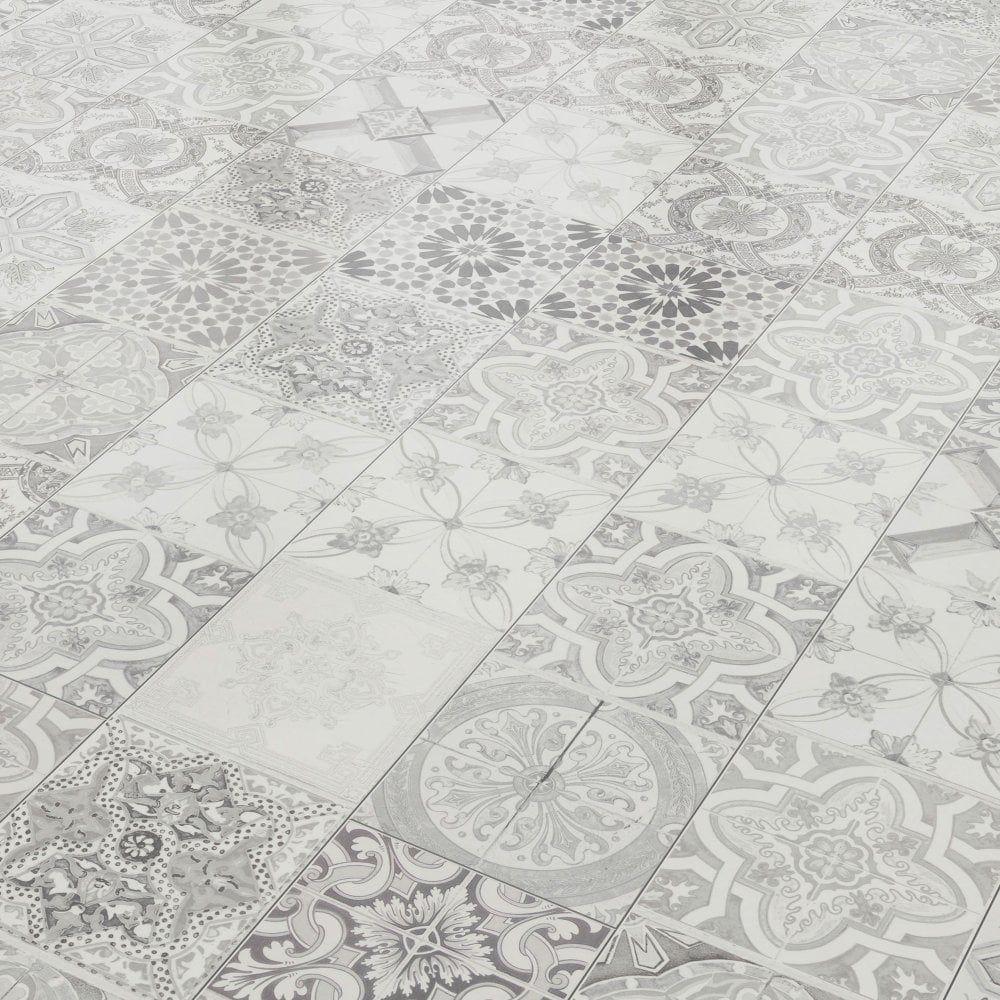 Aurora 8mm Ornate Ivory Tile Laminate Flooring 47548 Tile Effect Laminate Laminate Flooring Bathroom Tile Effect Laminate Flooring