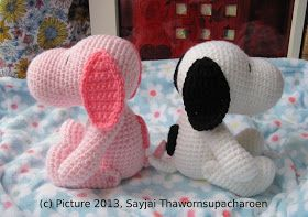 Snoopy Easy Amigurumi Pattern : Sayjai amigurumi crochet patterns ~ k and j dolls k and j