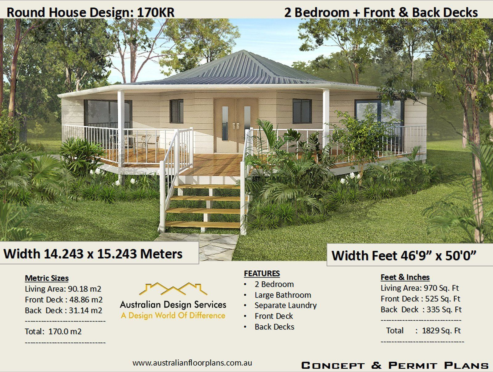 1830 Sq Feet Or 170 M2 2 Bedroom 2 Bed Granny Flat Small Etsy In 2020 Small House Design House Plans Simple House Plans