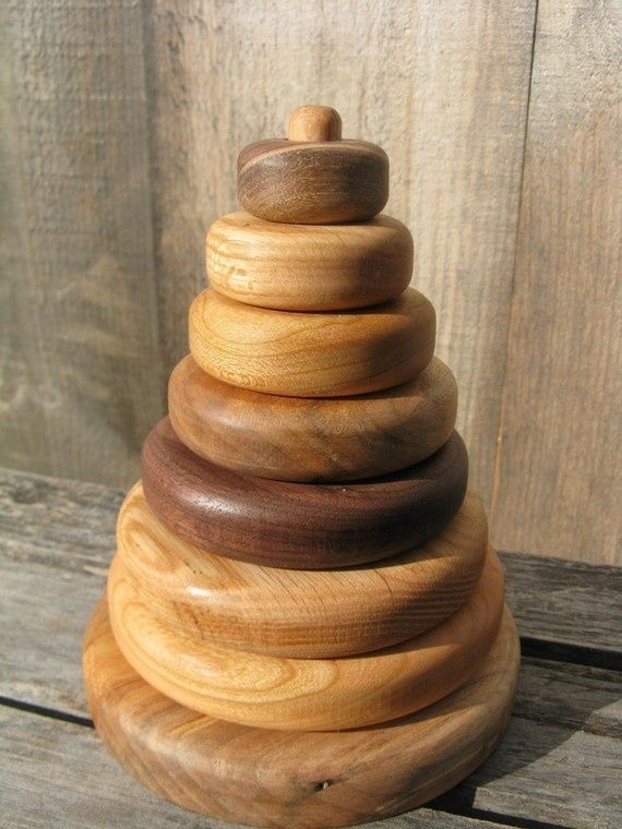 wooden toy stacker