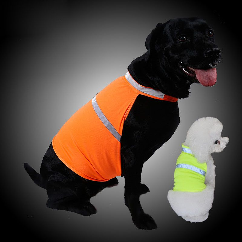 Pets Fluorescent Security Dog Reflective Vest Clothes Safety