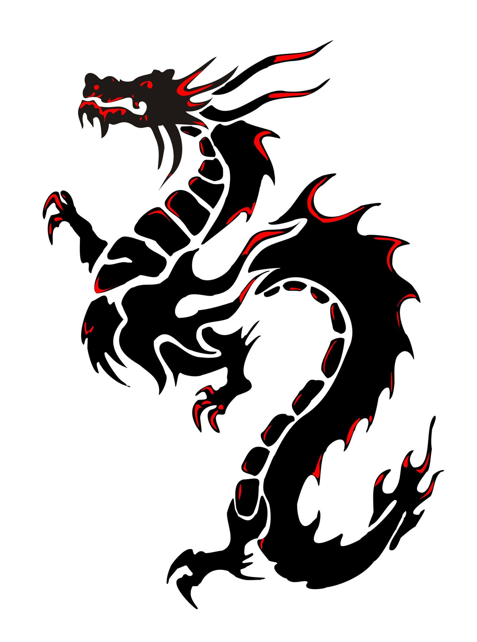 Dragon Tribal dragon tattoos, Dragon silhouette