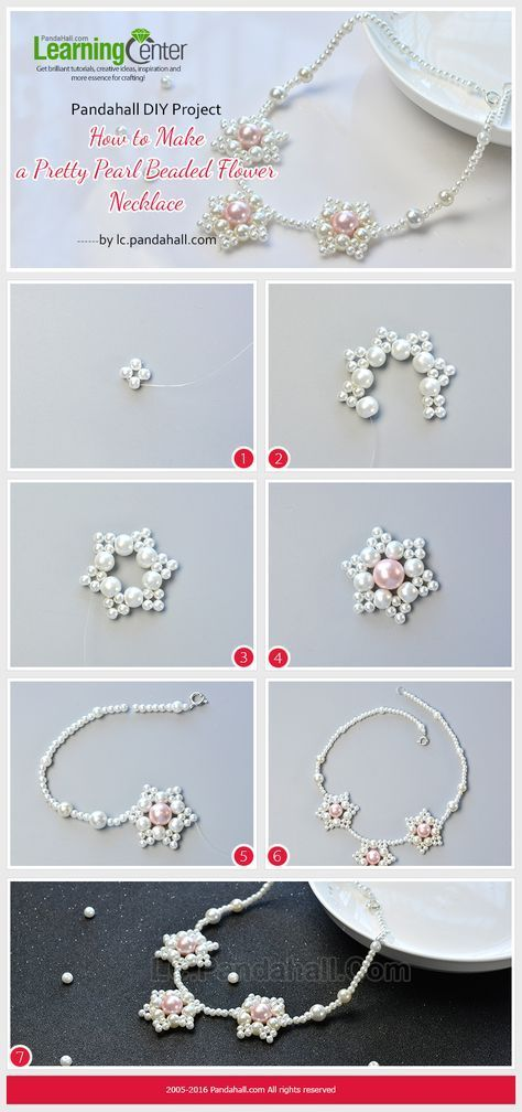 Photo of Pandahall Original DIY Project – How to Make a Pretty Pearl Beaded Flower … – #blu …
