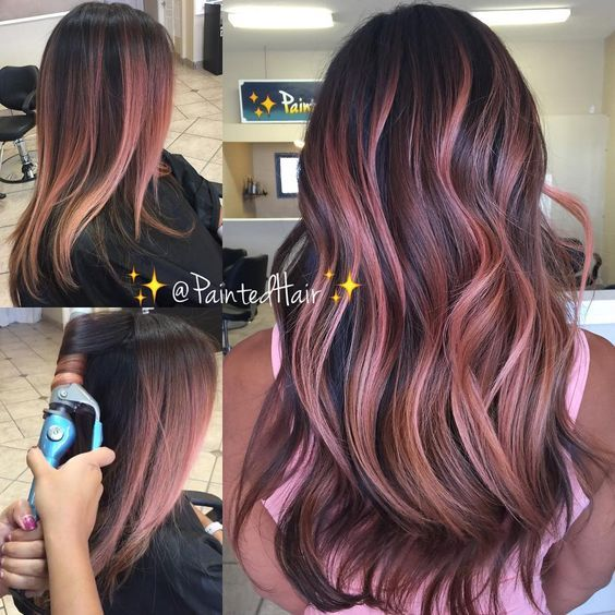 Straight To Waved Curling Video On Soft Rose Gold Painted Hair
