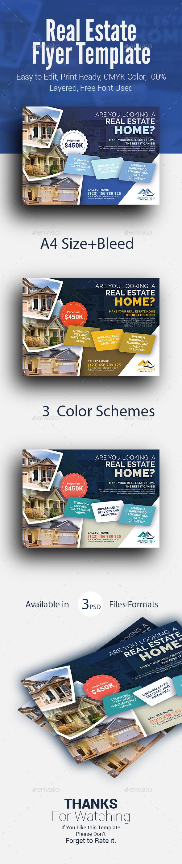 Real Estate Flyer Template Fully Editable Promotional Flyer Template A4 Advert Advertisement In 2020 Real Estate Flyer Template Real Estate Flyers Flyer Template