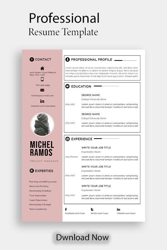 resume template professional microsoft word creative
