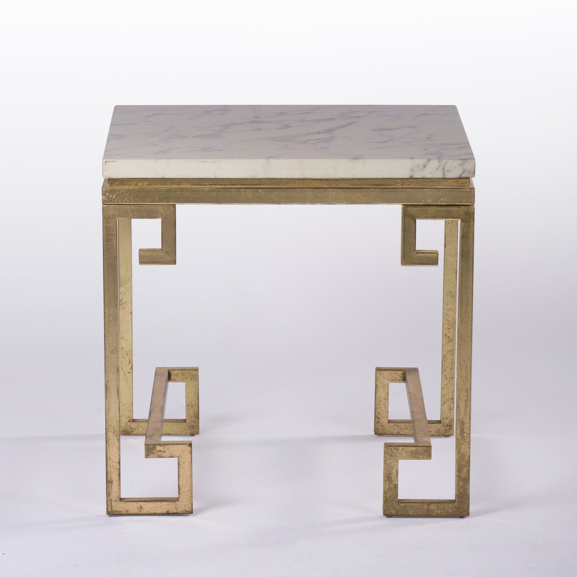 Gold Greek Key Style Marble Coffee Table Marble Coffee Table