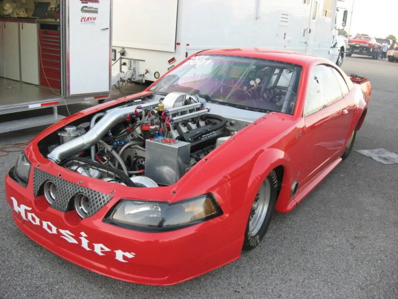 Kevin Hargett Twin Turbo New Edge Mustang Powered By A Pro Line ...