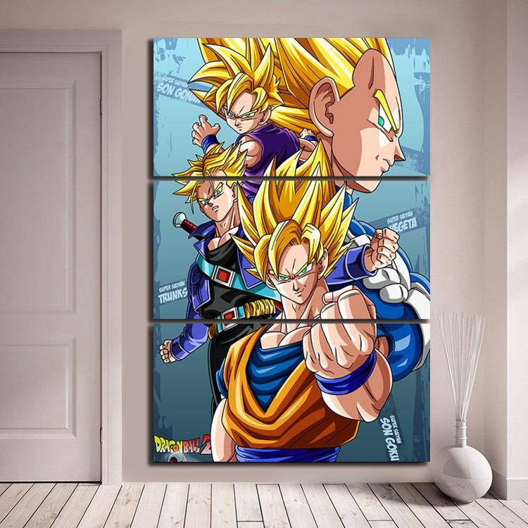 Dragon Ball Anime Goku Poster Canvas All Size Dragon Ball Poster
