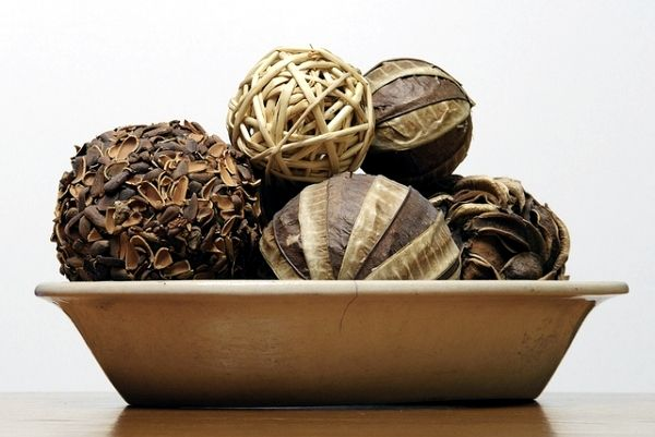 Decorative Bowl With Balls Fragrant Autumn Decoration Ideas  Make Decorative Potpourri Balls