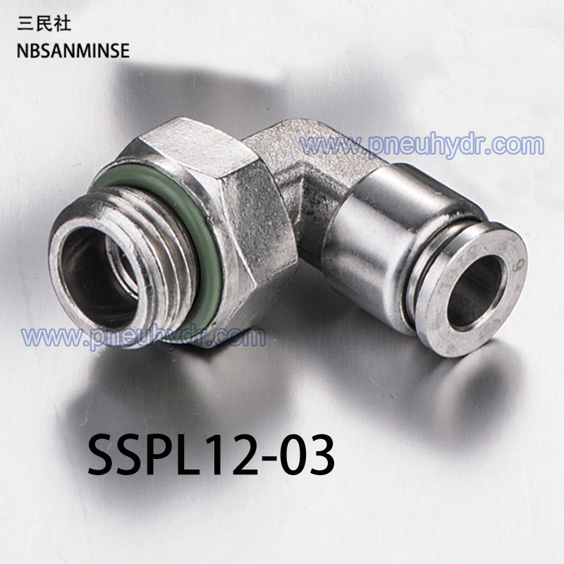 110.50$  Buy here - http://ali2fq.shopchina.info/go.php?t=32774328636 - 5Pcs/lot SSPL12-03 SS316L Fittings Outside Diameter 12 Thread Size 03 Pneumatic Pipe fitting Stainless steel fiting Sanmin  #buychinaproducts