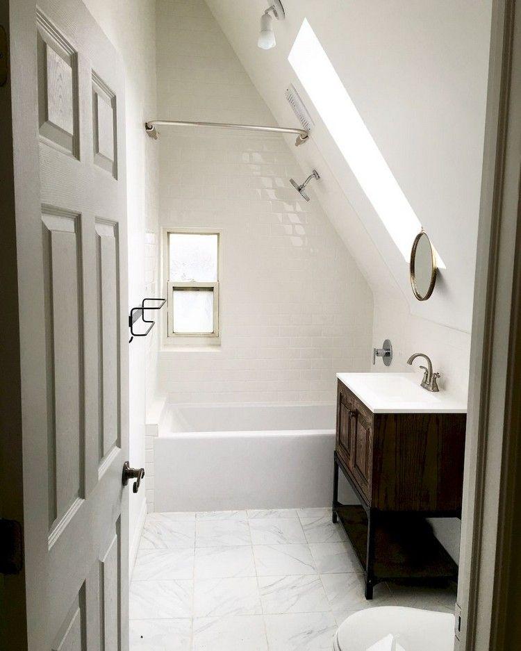 Small Bathroomdesign Ideas: 48+ Awesome Attic Bathroom Design Ideas