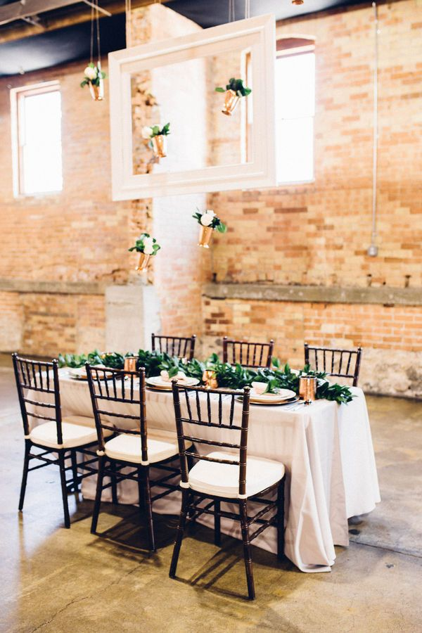 Inspiration Copper Greenery Styled Shoot Greenery Wedding Decor Styled Shoot Greenery