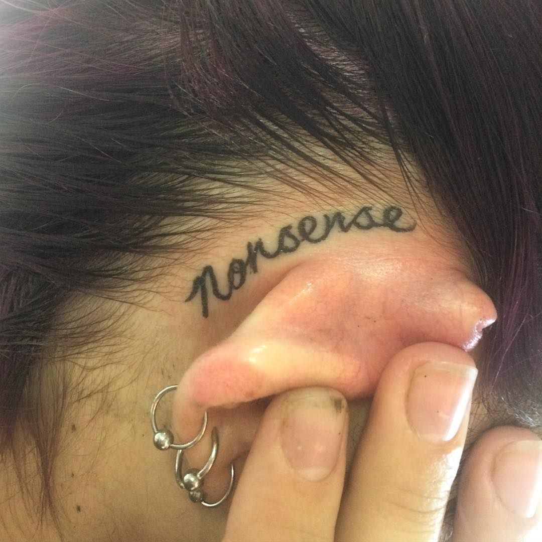 Teardrop Tattoo Placement: 30 Brilliantly Simple Behind-the-Ear Tattoo Ideas