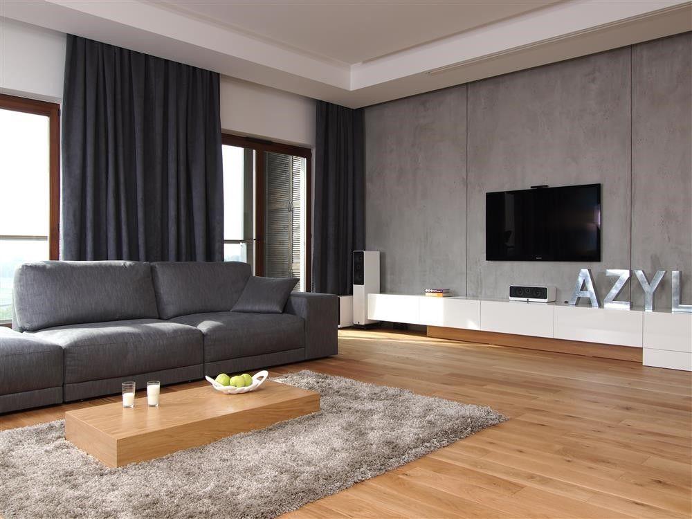 Beton Na ścianie W Aranżacjach Wnętrz Mieszkalnych Artykuły Homesquare White Living Room Decor Living Room Grey Gray Living Room Design