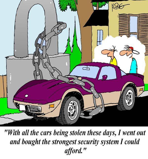 Saturday Morning Corvette Comic Extreme Security Measures Part 2 Corvette History Corvette Car Cartoon