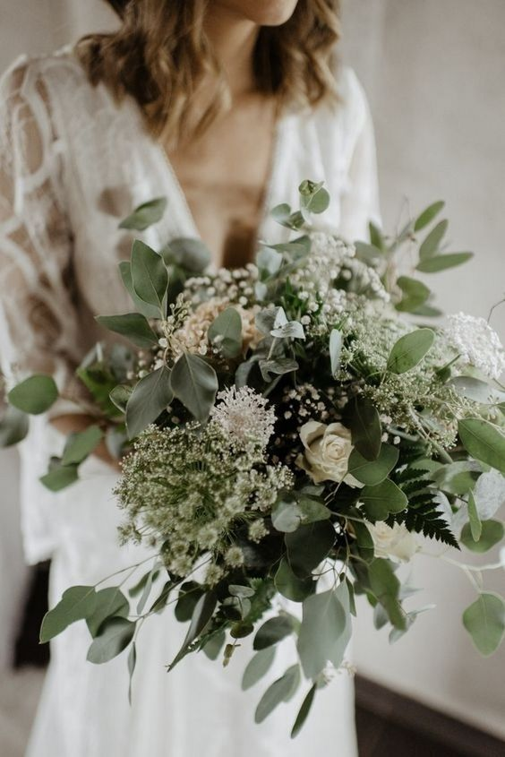30 Non Traditional Wedding Bouquet Ideas Laced In Love Wedding Blog Green Wedding Bouquet Boho Wedding Bouquet Bohemian Wedding Bouquet