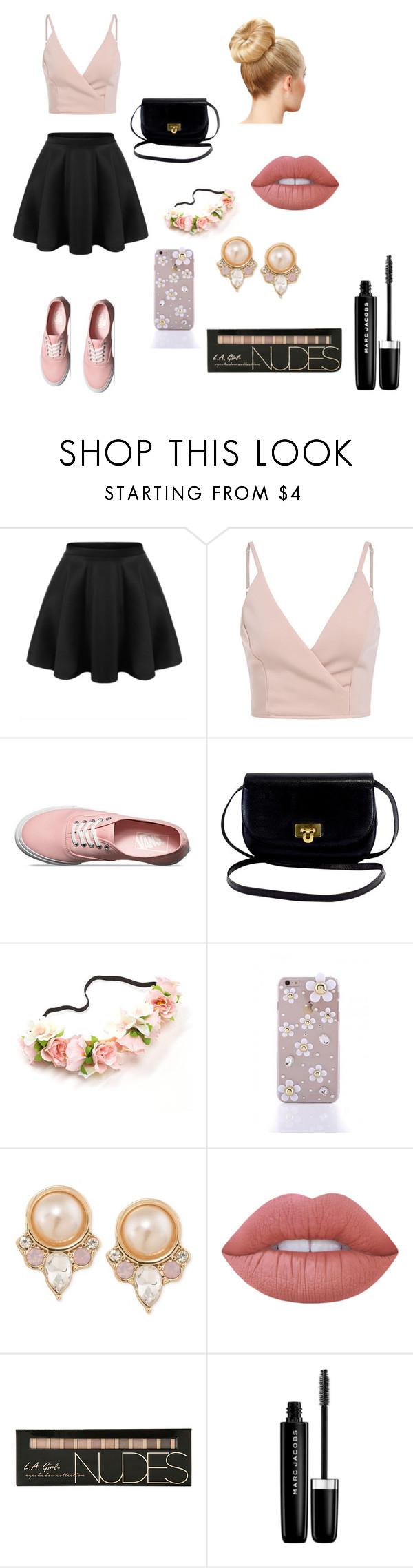 """""""Tenue 3"""" by louisepons ❤ liked on Polyvore featuring Vans, Carolee, Lime Crime and Marc Jacobs"""