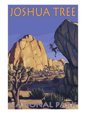 Joshua Tree National Park, California, Boulder Climber Premium Poster