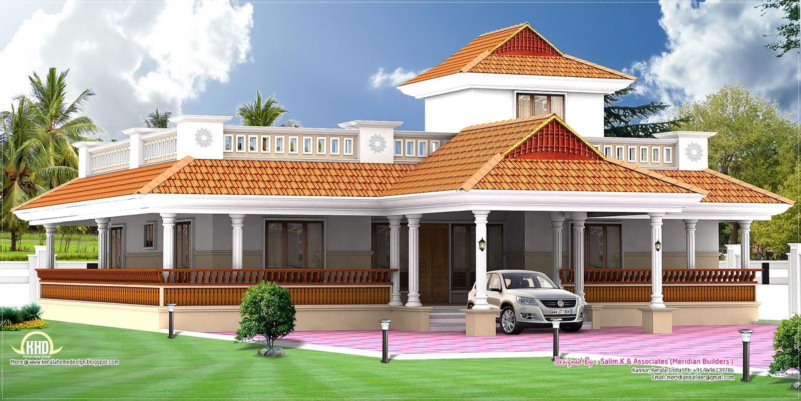 Kerala Style Vastu Oriented Bedroom Single Storied Residence House Floor  House Plan Sq Ft Kerala Home Design Floor Plans