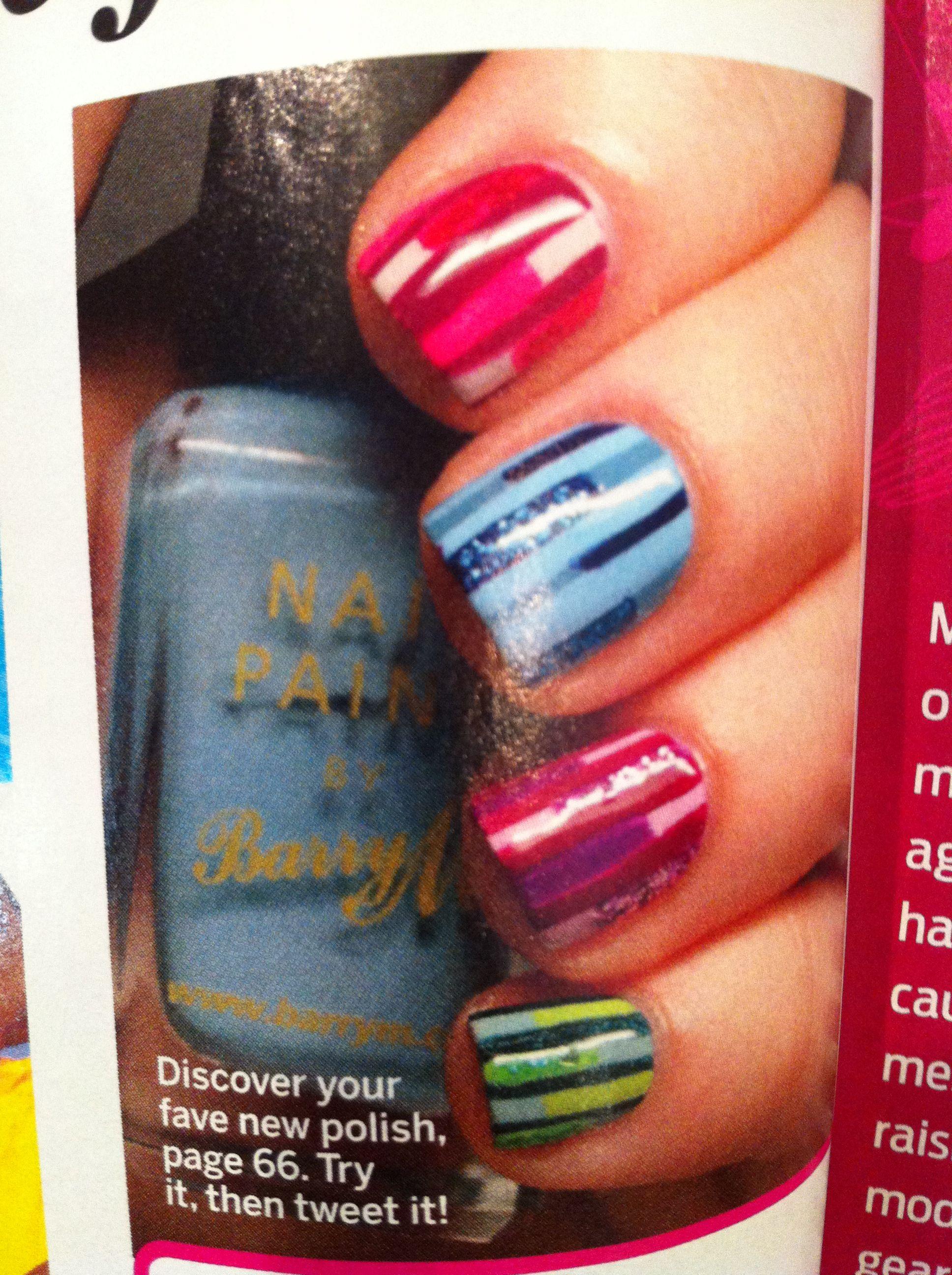 Nail art - Self magazine October | Nails | Pinterest