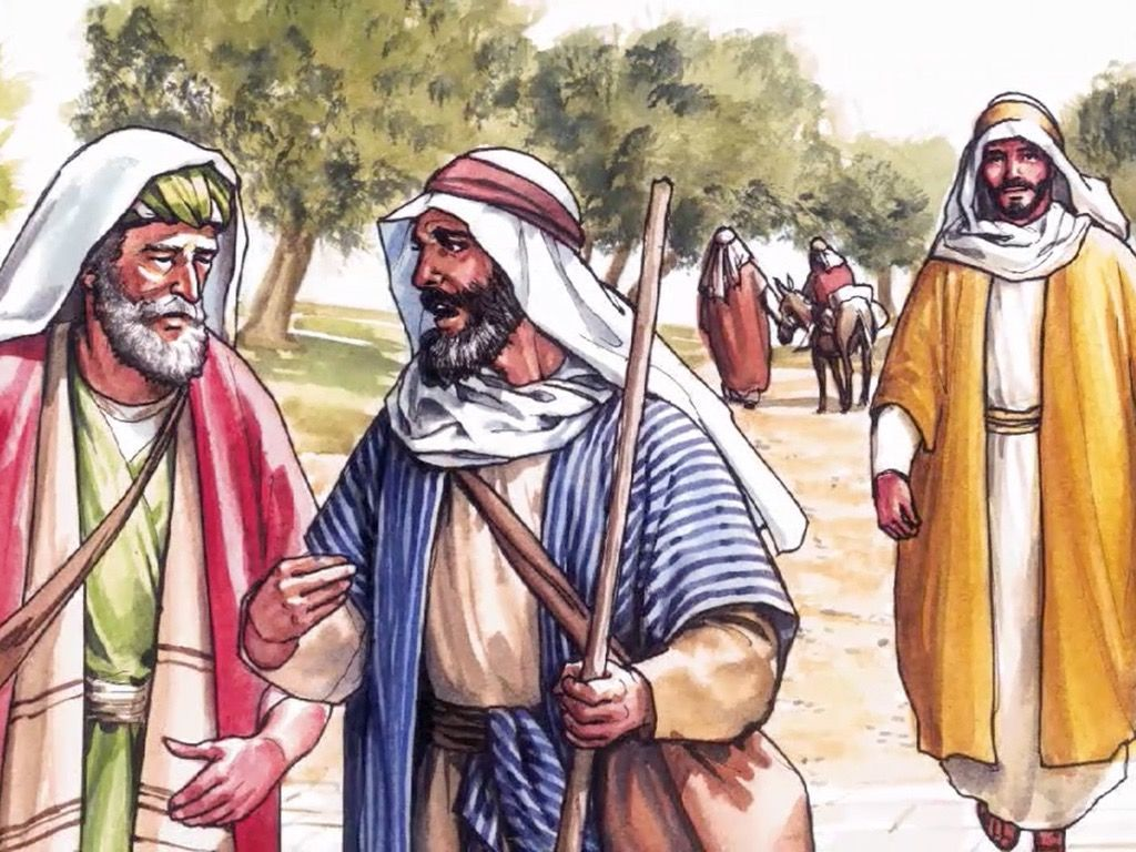 Free coloring pages road to emmaus - Free Visuals Jesus Appearance On The Road To Emmaus Jesus Appears To Two Disciples