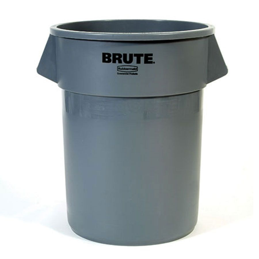 Rubbermaid Fg261000gray Brute Gray 10 Gallon Trash Can Trash Can Rubbermaid Commercial Products 32 Gallon Trash Can