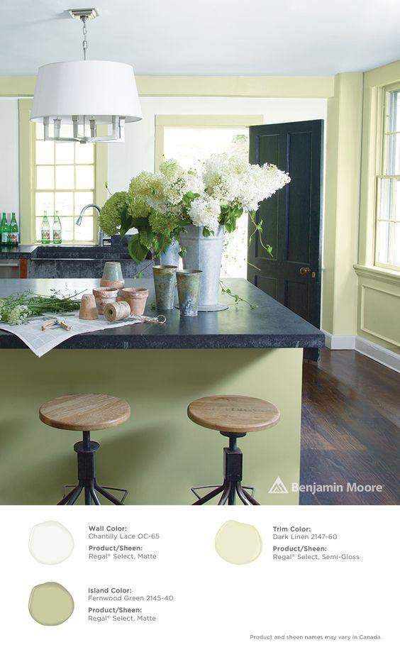 Trim Dark Linen 2147 60 With Regal Select Semi Gloss Finish Island Fernwood Green 2145 40 Matte Benjaminmoore Ringsend