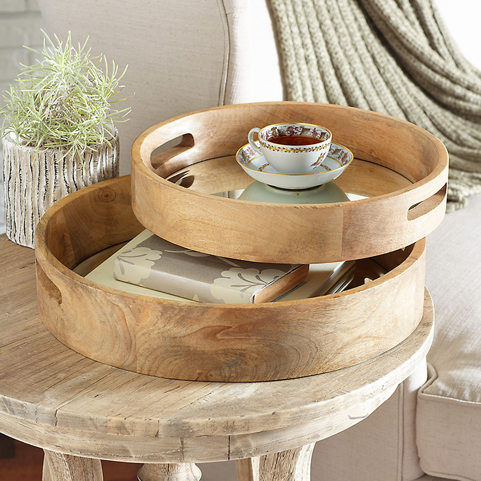 Coffee Table Tray Home Goods: Constructed From Mango Wood, These