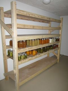 How To Build Your Own Canning Shelves   LivingGreenAndFrugally.com
