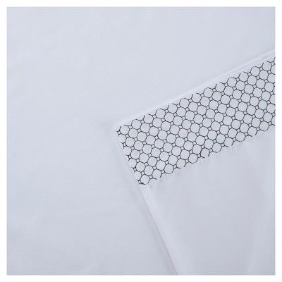 Sheet Sets White Black Non-woven Fabric California King, White & Black