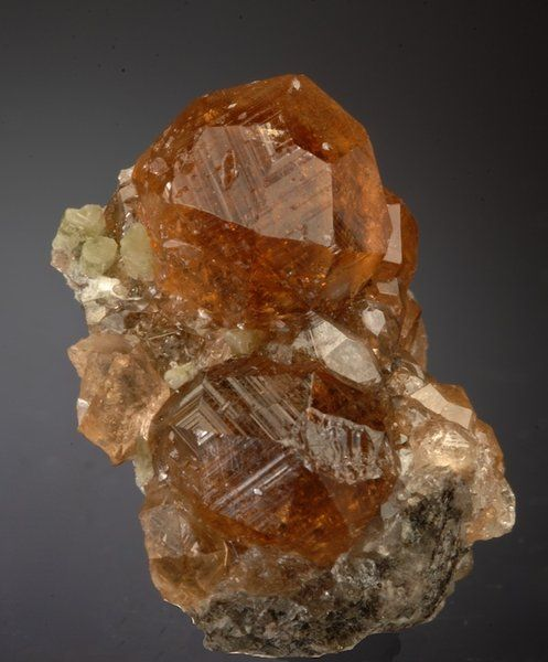 Grossular unusually large, with minor Diopside