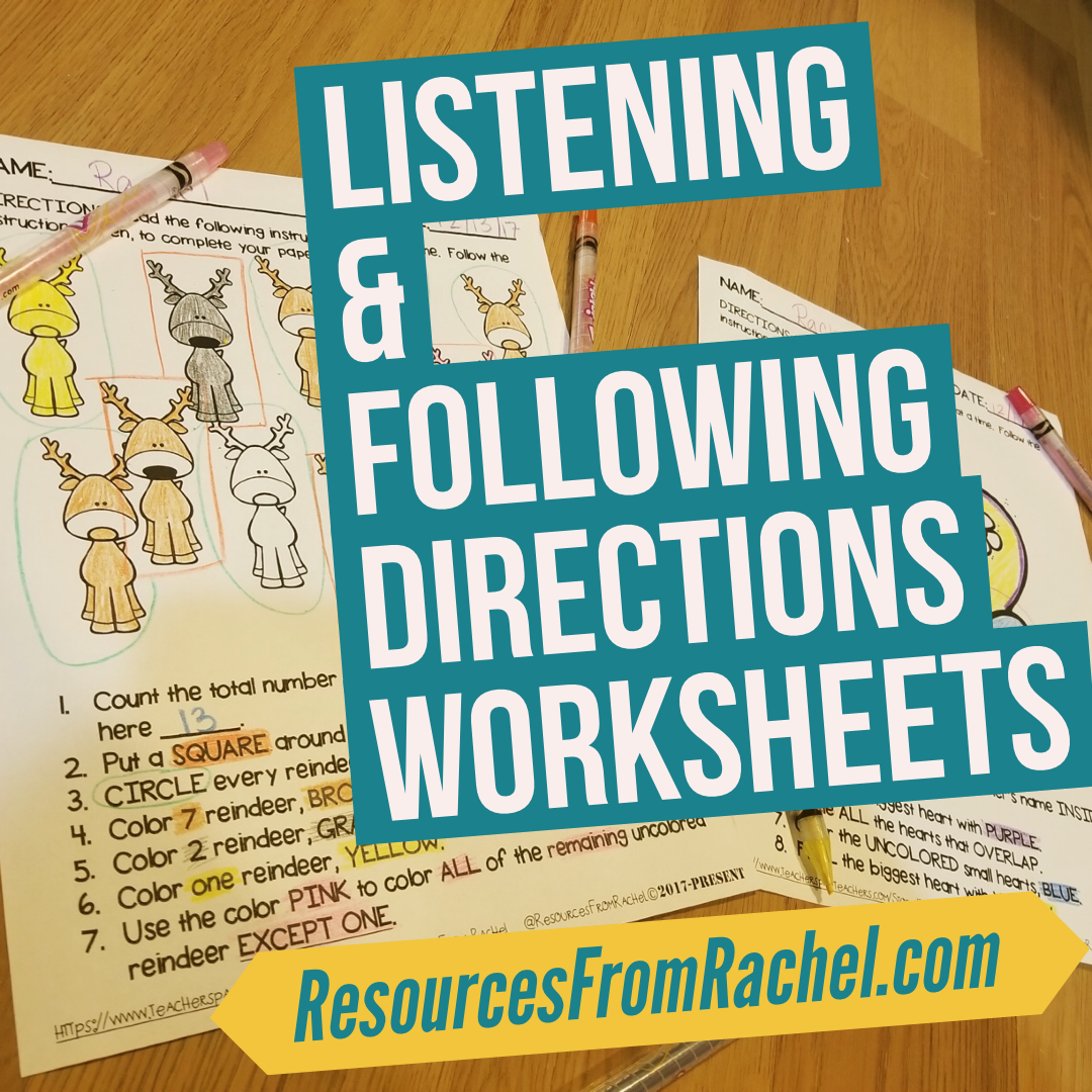 Listening And Following Directions Activities