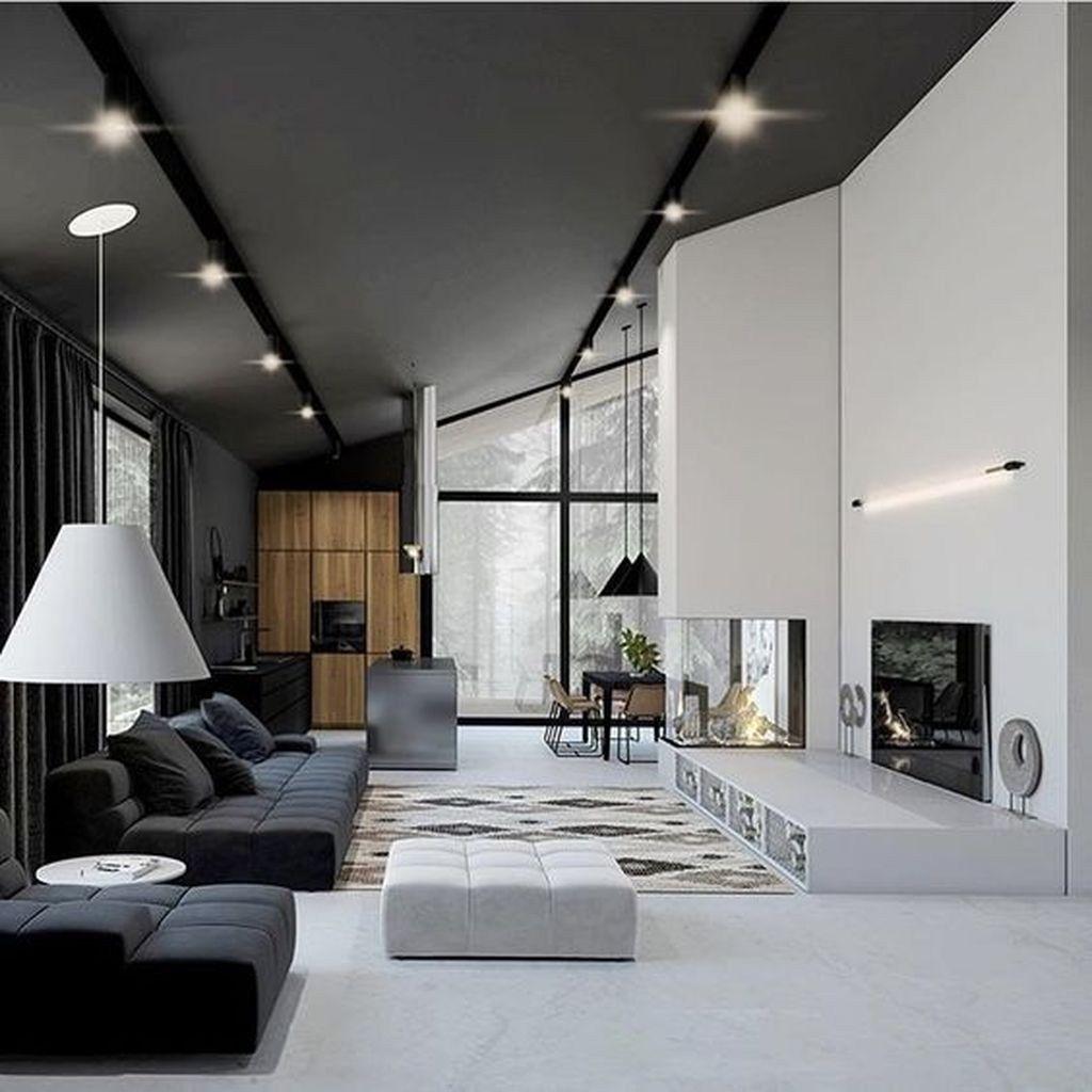 50 Stunning Modern House Design Interior Ideas Trendehouse In 2020 Loft Interior Design Modern House Design Interior Design