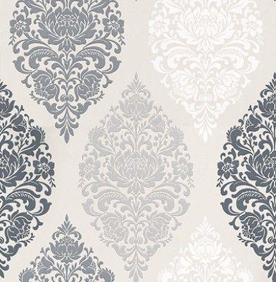 Loriana Dove By Prestigious Wallpaper Direct Damask Wallpaper Grey Wallpaper Wallpaper Bedroom