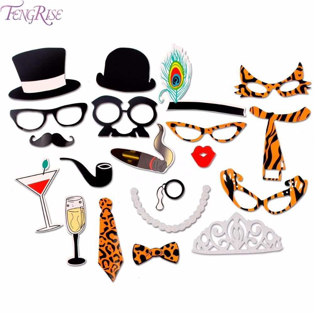 Wedding Photo Booth Props - Sexy Leopard Bachelorette Party Photo booth