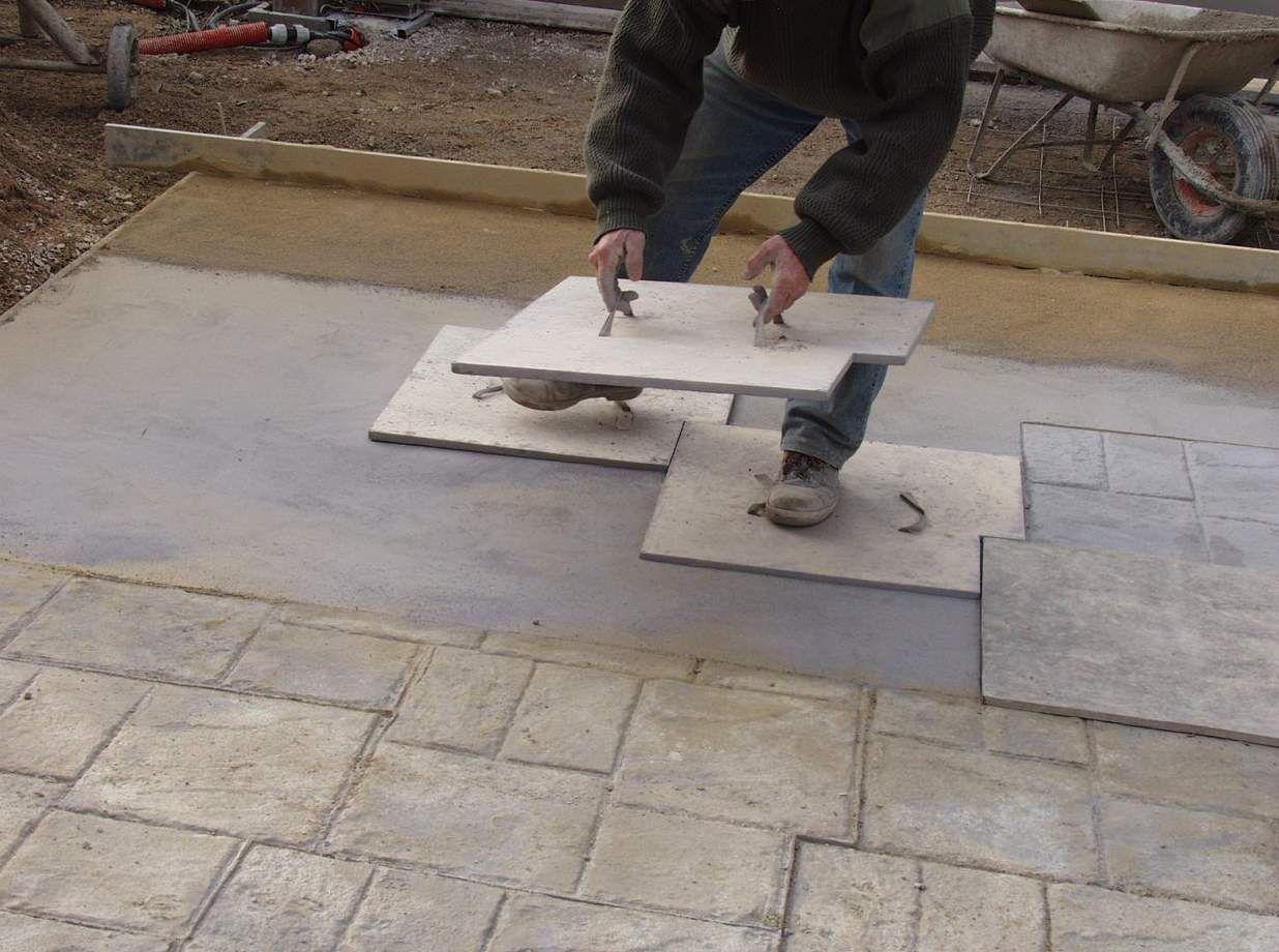 Empreintes pour b ton maison pinterest beton for Beton pour terrasse exterieure