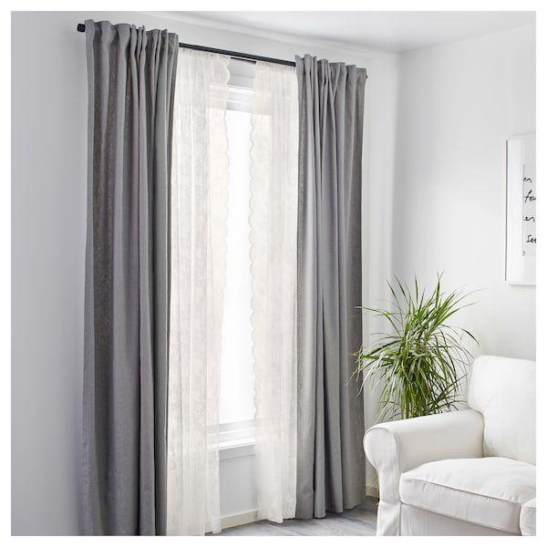 Schlafzimmer In Beige Weiß 2: ALVINE SPETS Gardinenstore/Paar
