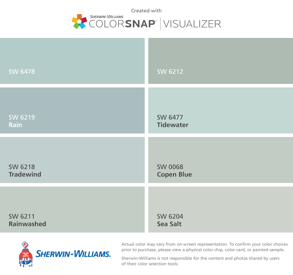 I Found These Colors For The Porch Floor With Colorsnap