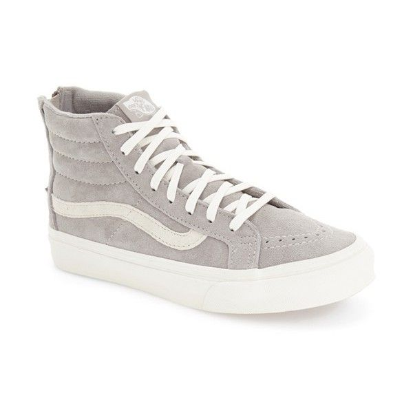 2eddb561fd Women s Vans  sk8-Hi  Slim Zip Sneaker (£68) ❤ liked on Polyvore featuring  shoes