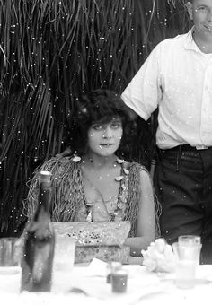 1919 A Woman There Was, Theda Bara on set