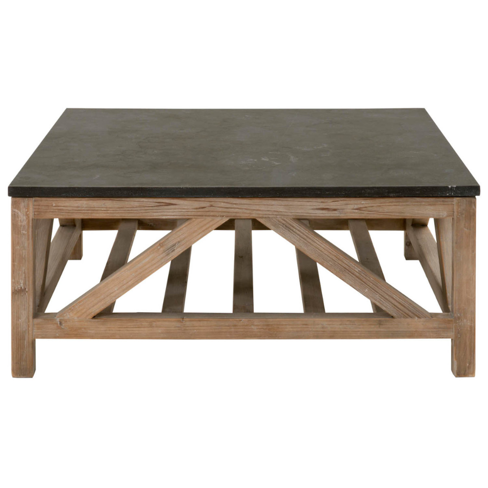 Blue Stone Square Coffee Table 42 X 42 In 2020 Stone Coffee
