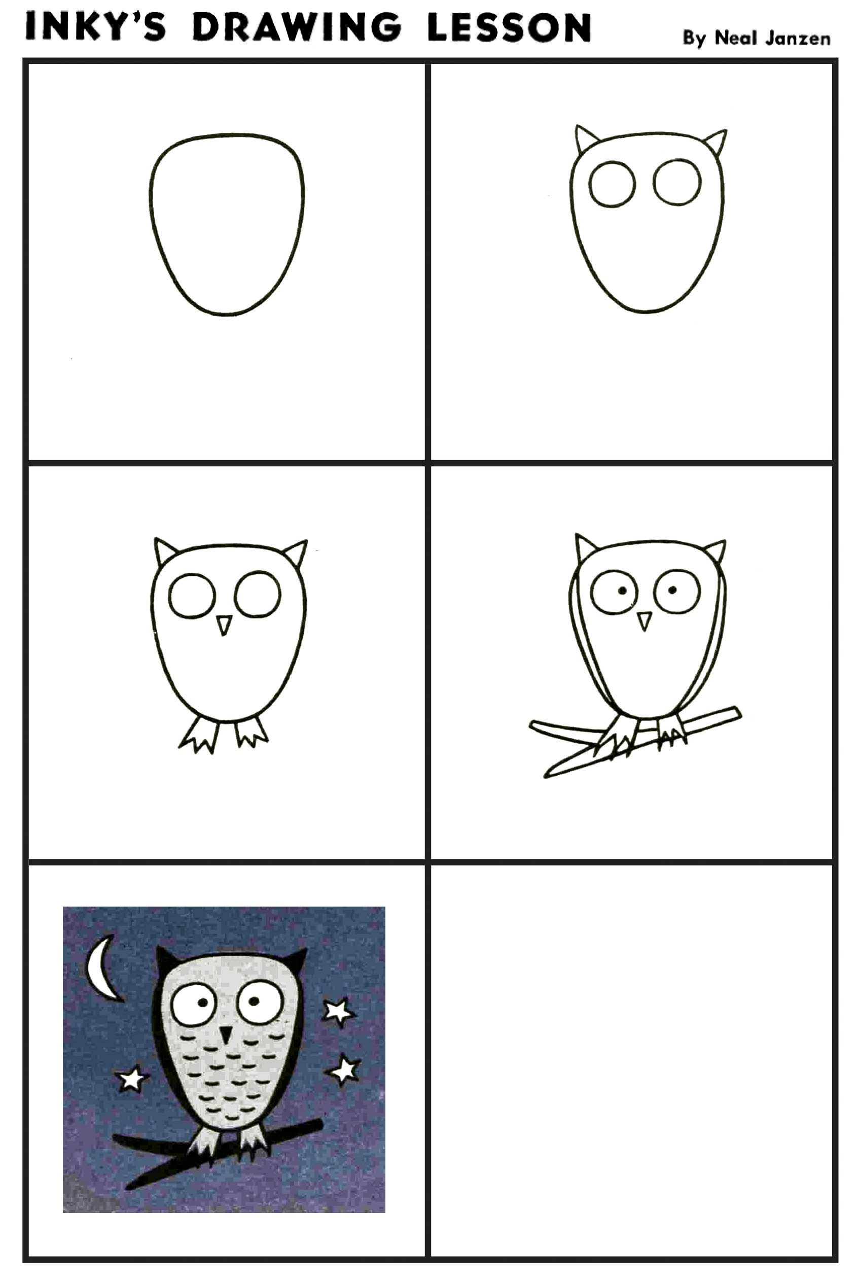Inky S Drawing Lesson Night Owl