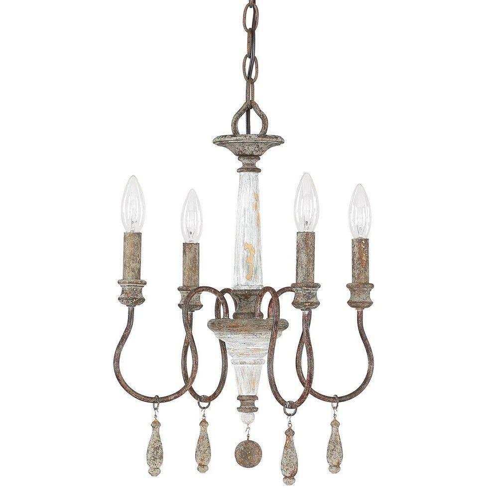 Americanlightingstore zoe four light mini chandelier shabby