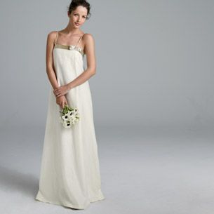 Annabelle Gown Italian Linen Embellished With Hand Sewn Crystals And Golden Gl