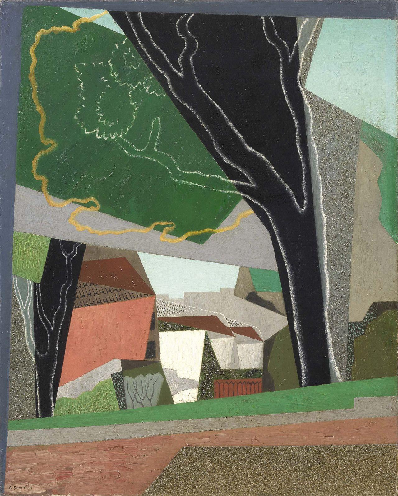 "thunderstruck9: "" Gino Severini (Italian, 1883-1966), Paysage (Le Cannon), 1917. Oil on canvas, 82 x 65 cm. """
