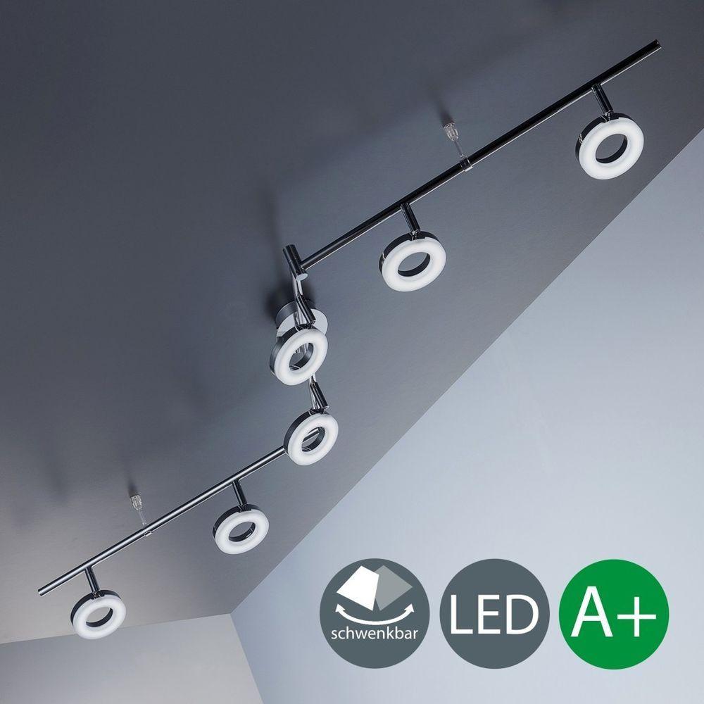 Superior Deckenleuchte LED Lampen Chrom Wohnzimmer Decken Spot Leuchte Strahler  6 Flammig