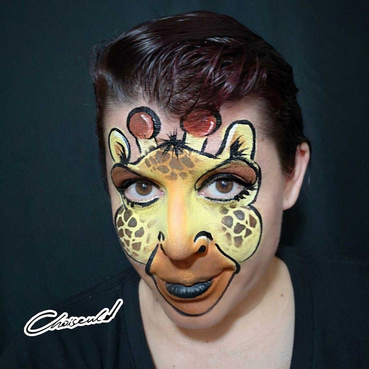 Jiraffe Facepainting Maquillaje De Jirafa Jiraffe Makeup Kinder Schminken Geschenk Fur Freund Kinderschminken